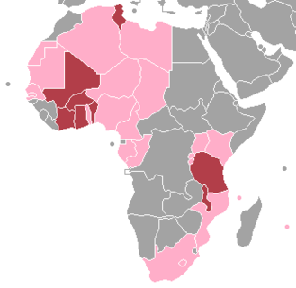 African Court on Human and Peoples' Rights - Members of the African Court on Human and Peoples' Rights. Burgundy - fully recognize the competence of the court Pink - other states that have ratified the protocol