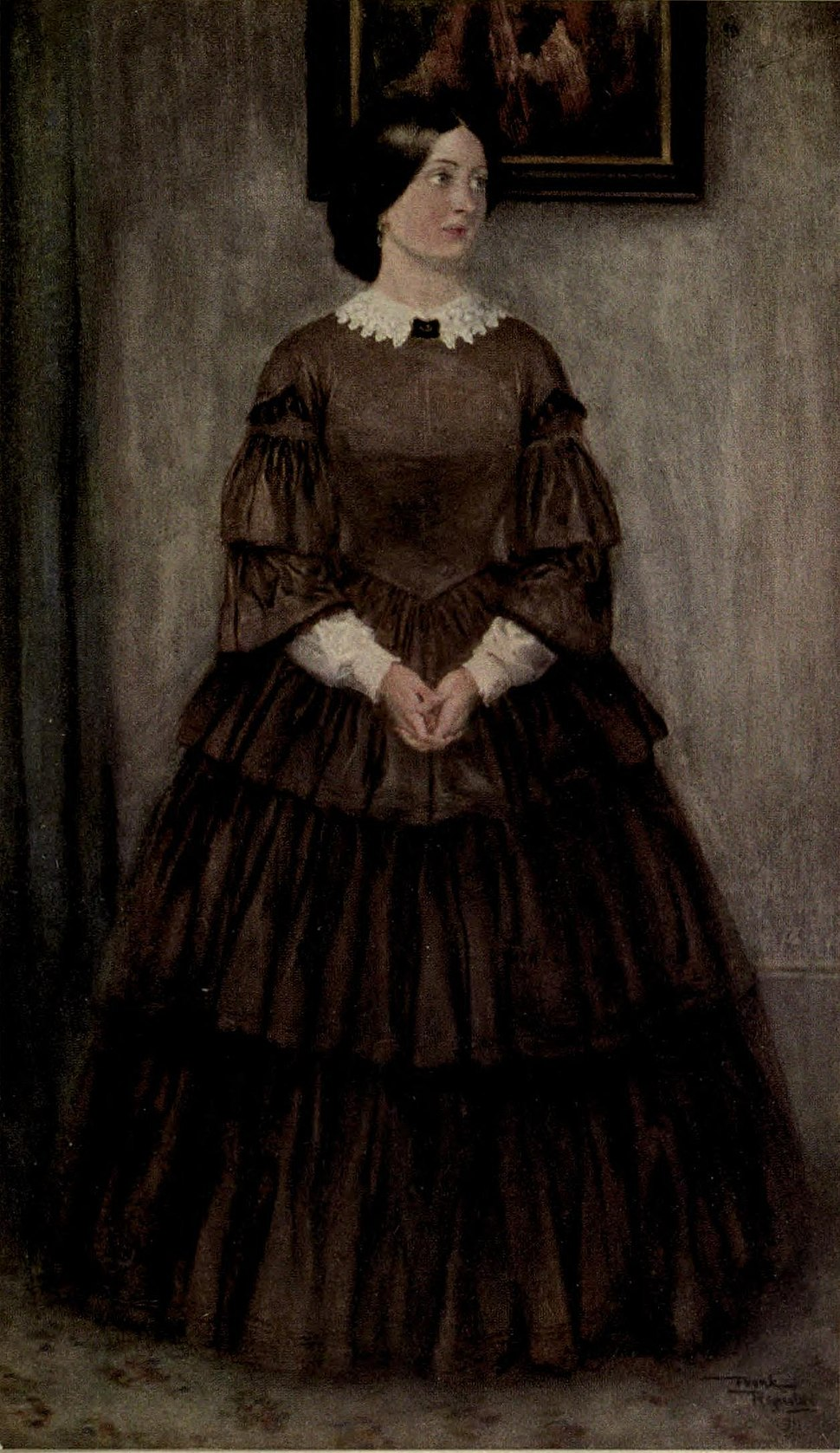 Agnes Wickfield from David Copperfield art by Frank Reynolds