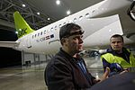 AirBaltic Bombardier CS300 mainenance (32406527393).jpg