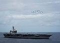 Aircraft fly over USS Theodore Roosevelt (CVN 71). (41886025711).jpg