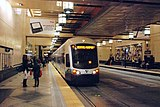 Airport-bound Link train at Westlake Station (2010).jpg