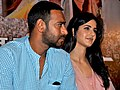 Ajay Devgan,Katrina Kaif at Raajneeti press meet.jpg