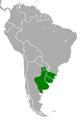 Akodon azarae range map.PNG