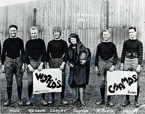 1920 Akron Pros season - Several Pros players celebrating their championship.