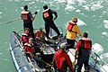 Alaska cruise passengers and crew in inflatable boat.jpg