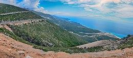 Albanian Riviera from Llogara Pass 2015-09-22.jpg