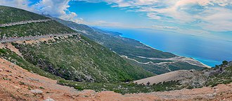 Vlorë County - The Llogara Pass divides the Ceraunian Mountains into a western and an eastern range.