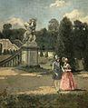 Albert Raudnitz Junges Paar im Schlosspark.jpg