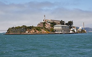 Alcatraz Island - Image: Alcatraz Island as seen from the East