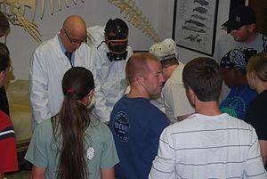 Aldemaro Romero Jr. - Aldemaro Romero Jr. (left) teaching marine mammalogy at Arkansas State University dissecting a sea otter