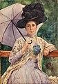 Aleksander Augustynowicz - Portret kobiety w kapeluszu 1909.jpg