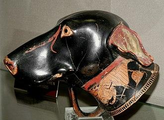Brygos - Image: Aleria, Rhyton, tête de chien