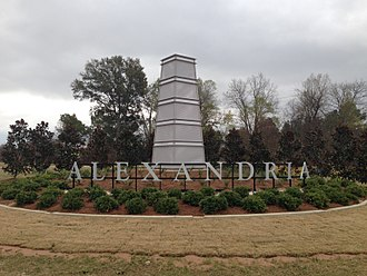Alexandria, Louisiana - Alexandria Welcome Sign on Louisiana Highway 28 West.