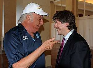 Alfio Basile - Basile in a meeting with Amado Boudou, 2012.