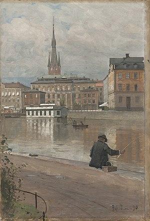 1890 in Sweden - Alfred Bergström, Utsikt över Konstakademien, 1890