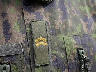 Finnish military ranks - Corporal