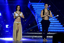 Alizée & Grégoire Lyonnet performing Bollywood in Lyon for Danse ave les stars Tour.