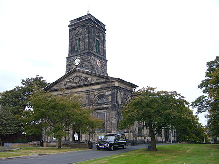 All Saints' Church in the centre of Wellington. Built in 1790.
