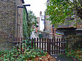 Alley from churchyard to main street, Horndon on the Hill (geograph 2157991).jpg
