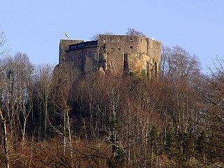 Alt Eberstein castle ruin in Baden-Baden. Germany