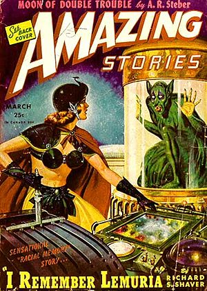 "Lemuria in popular culture - Shaver's ""I Remember Lemuria"" was the cover story in the March 1945 Amazing Stories"