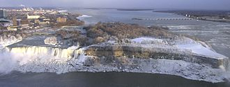 Niagara River - The American Falls with Goat Island to its right.