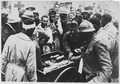 American wounded in France. American Red Cross workers distribute chocolate, cigarettes et cetera t . . . - NARA - 533572.tif