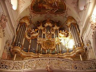 Amorbach Kloster Kirche Innen Orgel 2