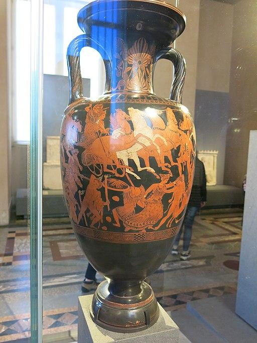 Amphore à figures rouges décorée du combat des Dieux et des Géants (Louvre, MNB 810) 1
