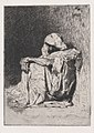 An Arabic man seated on the ground, head partly covered MET DP876115.jpg