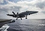 An F-A-18E Super Hornet launches from USS Dwight D. Eisenhower. (27884273181).jpg