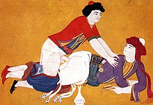 An ottoman miniature from the book Sawaqub al-Manaquib depicting Homosexuality.jpg