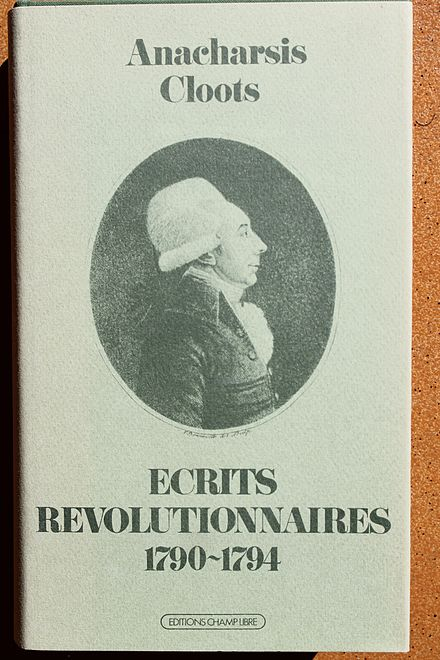Ecrits revolutionnaires by Anacharsis Cloots, Champ Libre Anacharsis Cloots - Ecrits revolutionnaires.jpg