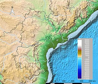 Andhra Pradesh - Andhra Pradesh topographical map