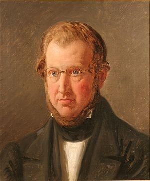 Andreas Frederik Krieger - Andreas Frederik Krieger painted by Constantin Hansen in 1848