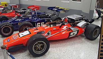 Mario Andretti - A replica of the Brawner Hawk in which Andretti won the 1969 Indy 500 resides in the Indianapolis Motor Speedway Hall of Fame Museum.