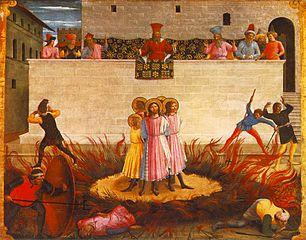 Martyre des saints Côme et Damien