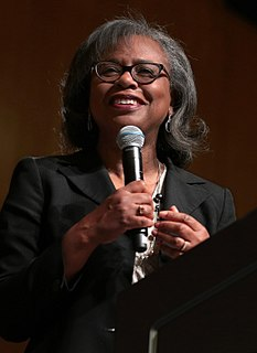 Anita Hill Law professor; witness in Clarence Thomas controversy