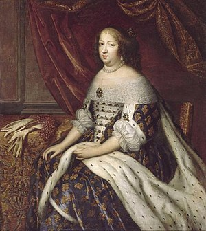 Charles Beaubrun - Charles Beaubrun: Portrait of Anna of Austria (1601-1666) wife of Louis XIII, 2nd quarter 17th century, oil on canvas, Châteaux de Versailles et de Trianon