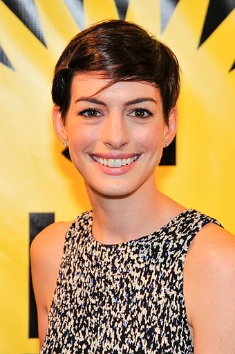 Hathaway at the Deauville American Film Festival in 2014 Anne Hathaway at MIFF.jpg