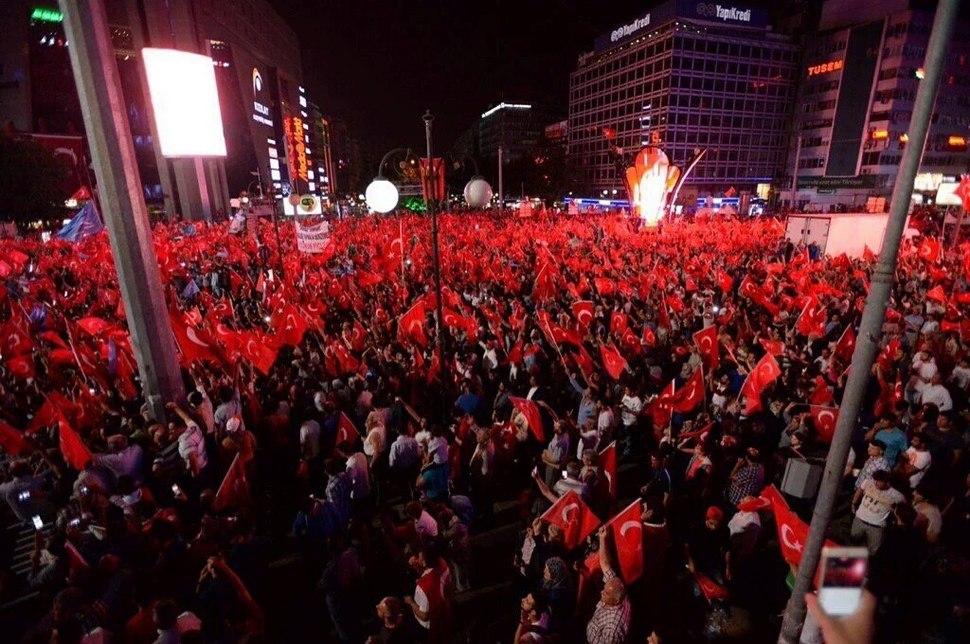 Anti-Coup Demokrasi Nöbeti Kızılay Square