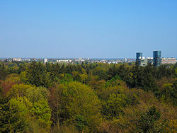 Apeldoorn viewed from park Berg & Bos, summer 2012