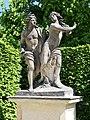 Apollo and Daphne - Skulptur im Barockgarten Grosssednitz.JPG