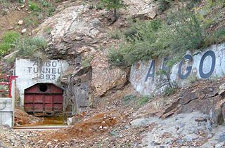 Argo Tunnel mine drainage and access tunnel in Idaho Springs, Colorado