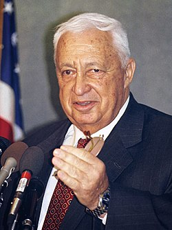 Ariel Sharon in 2004.  Image: Jim Wallace (Smithsonian Institution).