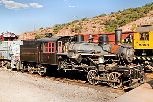 Arizona Eastern Railway - A Heisler locomotive in AZER's railyard in Miami, Arizona