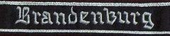 """Ärmelband der Division """"Brandenburg"""", getragen ab 1944"""