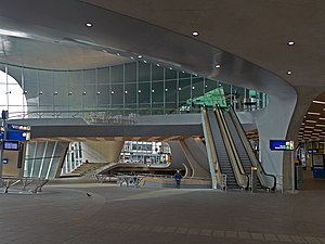 Arnhem Centraal railway station - Stairs in the station building