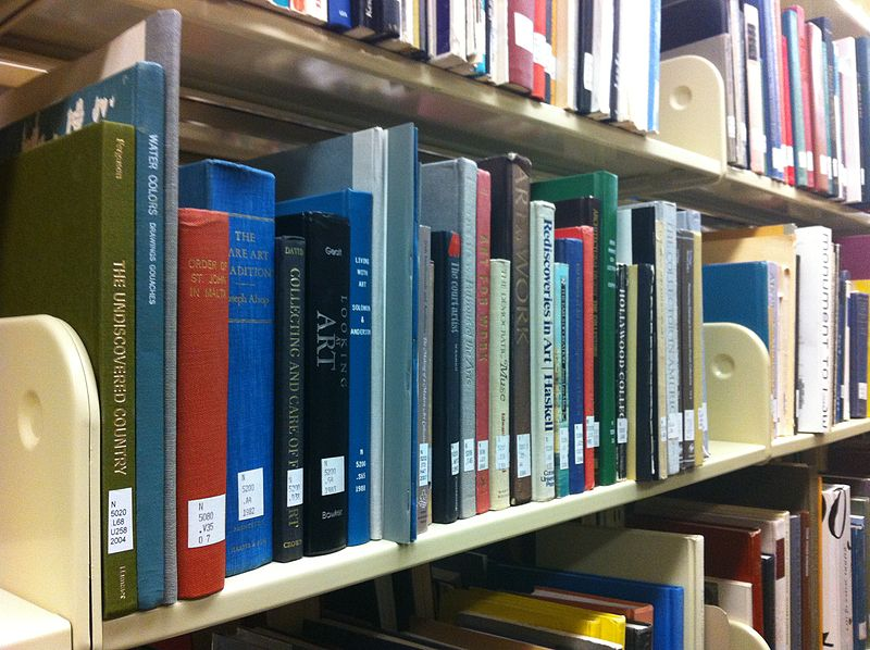File:Art Books on Library Shelf.JPG
