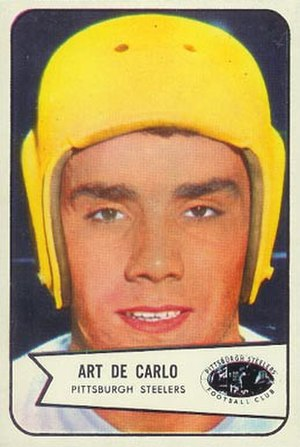Art DeCarlo - DeCarlo on a 1954 Bowman football card